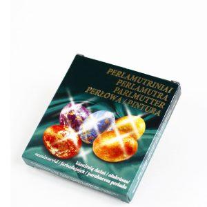Perlamutriniai kiaušinių dažai + auksinis blizgesys