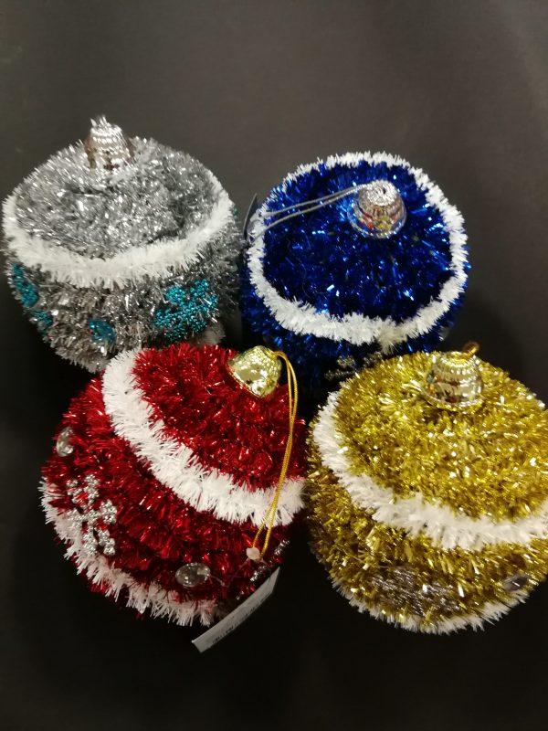 folinė dekoracija burbulas skersmuo 10cm (4-ių spalvų pasirinkimas)