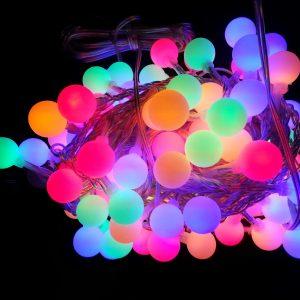 LED el. lauko ir vidaus girlianda 50L, 5M+3M,jungiamos daugiafunkcinės