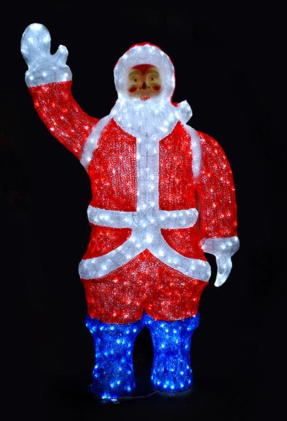 """Šviečianti lauko dekoracija """"Kalėdų senis"""" 215cm"""