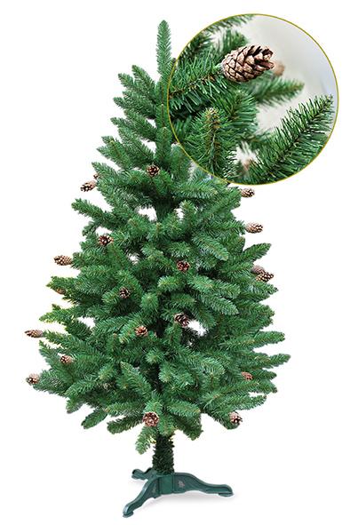 Naujiena! Eglutė dekoruota natūraliais kankorežiais (2-jų aukščių pasirinkimas)